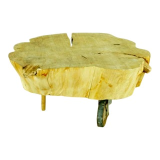 Tree Trunk Coffee Table For Sale