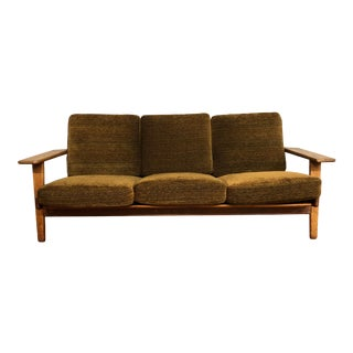 Hans Wegner for Getama Ge-290 1950s Sofa With Oak Frame and Loose Cushions For Sale