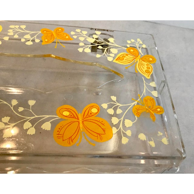 Vintage Lucite Painted Tissue Box Cover For Sale - Image 9 of 10