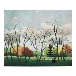 "1940s Henri Rousseau, Original ""Bois De Vincennes"" Swiss Lithograph For Sale"
