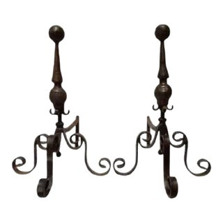 Jan Barboglio Fireplace Andirons - a Pair For Sale