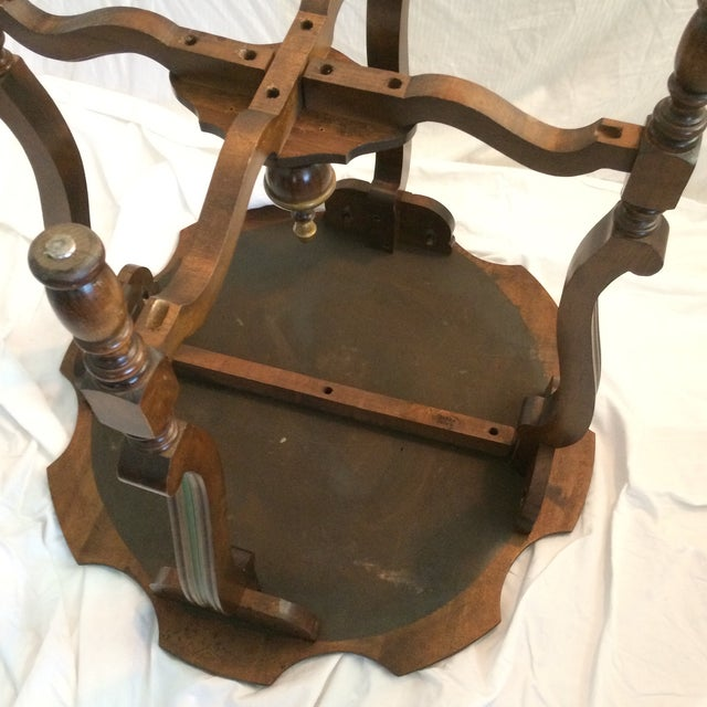 Mahogany and Walnut Aesthetics Movement Lamp Table - by St. Johns Tables Michigan For Sale - Image 9 of 13