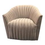 Image of Weiman Velvet Swivel Chair For Sale