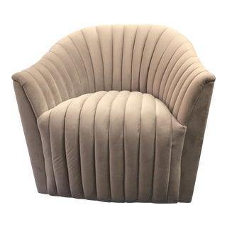 Weiman Velvet Swivel Chair For Sale