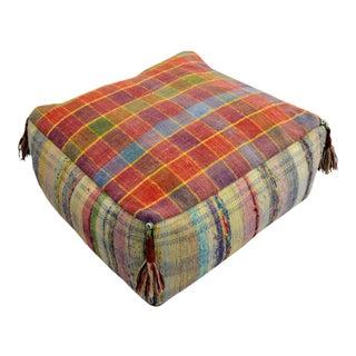 Hand Woven Kilim Floor Cushion Turkish Sitting Pillow- 22″ X 22″