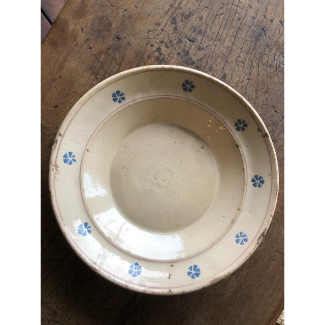 Rustic Hand Painted Italian Antique Terracotta Bowl For Sale - Image 9 of 10