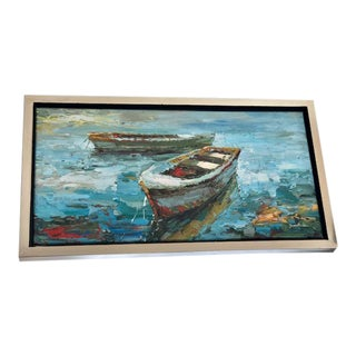 Rowboat Oil Painting For Sale