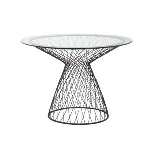 Jayson Home Wire Base Round Table Glass Top For Sale