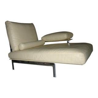 B&B Italia Diesis Cream Leather Chaise Lounge
