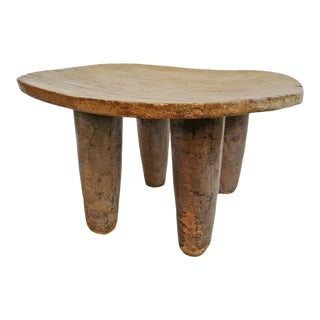 Vintage Senufo Wide Stool For Sale