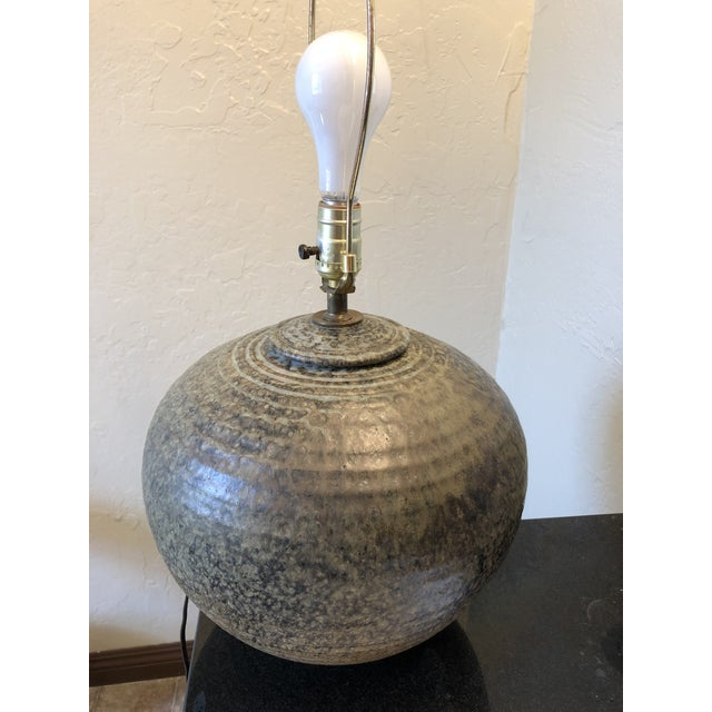 Vintage Studio Pottery Lamp Signed by the Artist For Sale - Image 11 of 11
