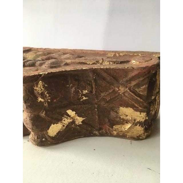 Gold Leaf 1780 Antique Gold Leaf Korbel For Sale - Image 7 of 9