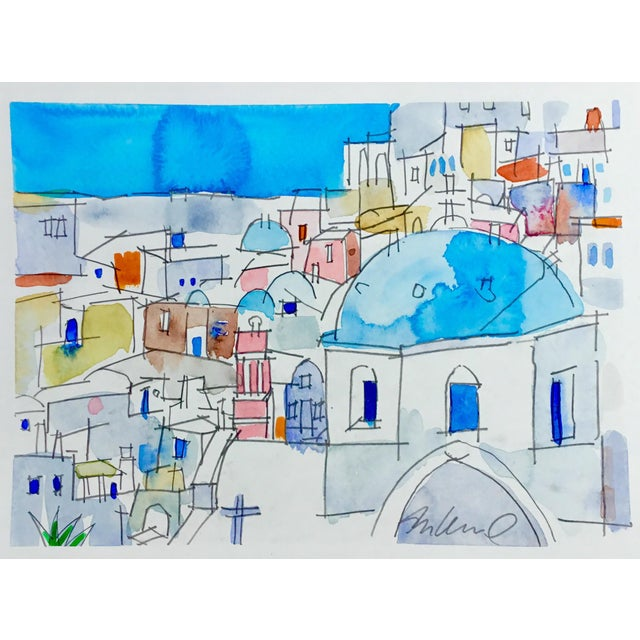 Original watercolor painting on strathmore paper. Cityscapes.