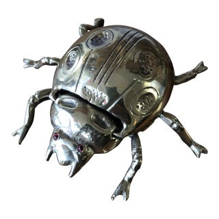 Vintage Scarab Beetle Small Box For Sale