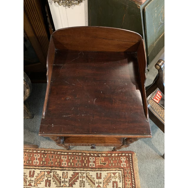 17th Century Gallery Back Sheraton Style Wash Stand For Sale - Image 5 of 10