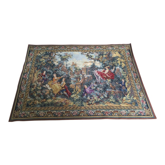 Fragonard's the Swing Belgian Tapestry For Sale
