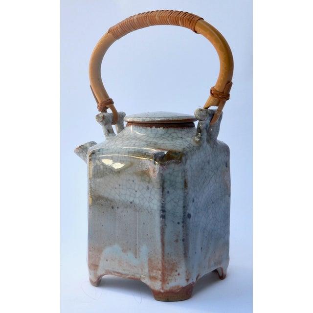 Mid Century Art Studio Ceramic Teapot For Sale - Image 4 of 7