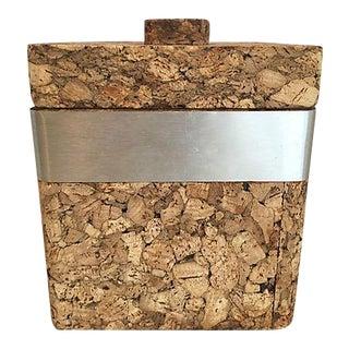 1970s Vintage French Cork Ice Bucket