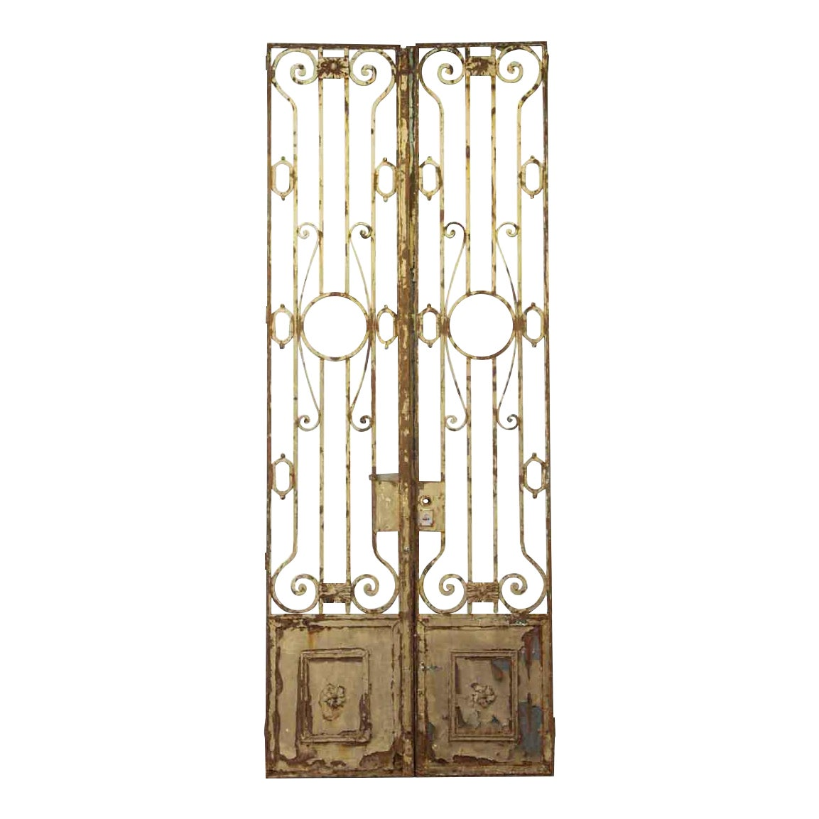 French Chateau Wrought Iron Tall Entry Doors A Pair Chairish