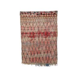 "Boujad Vintage Moroccan Wool Rug - 5'9"" X 8'2"" For Sale"