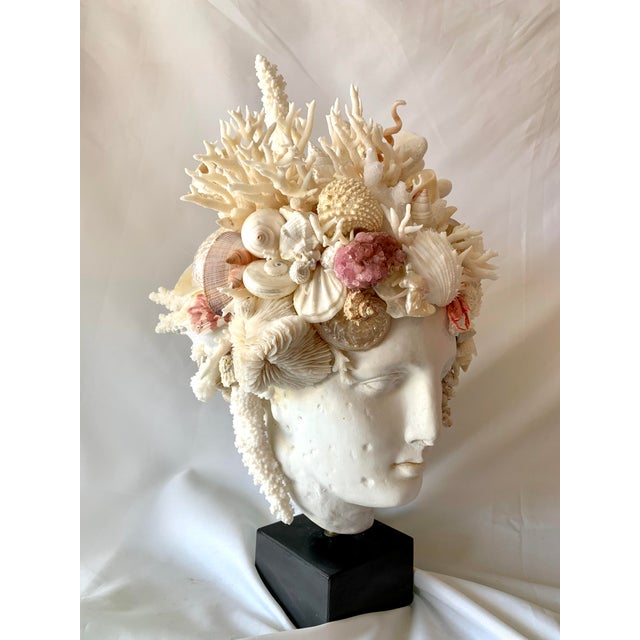 Large cast Marble Hygiea, Greek Goddess of Health, head. These large heads are hard to find and add powerful decorating to...