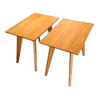 1940s Mid-Century Modern Dan Johnson Ash Side Tables - a Pair For Sale