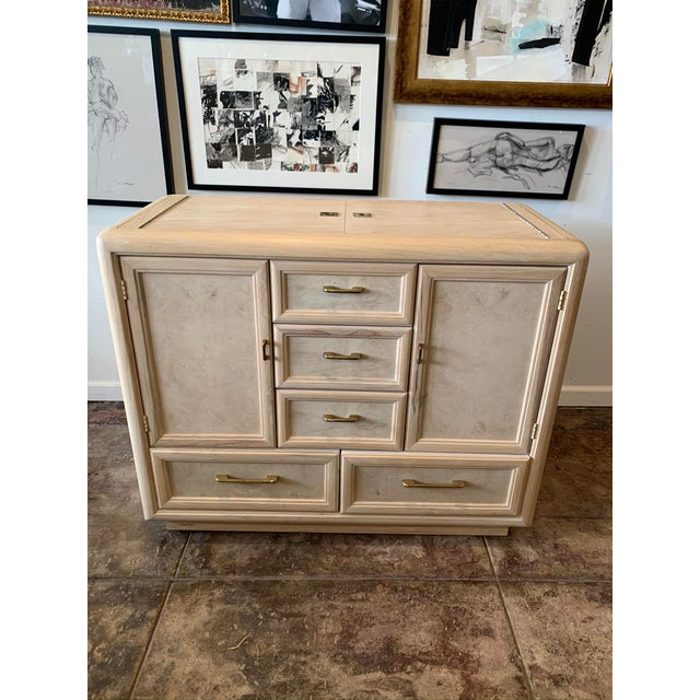 Mid 20th Century Thomasville Hideaway Bar Cabinet For Sale - Image 9 of 10