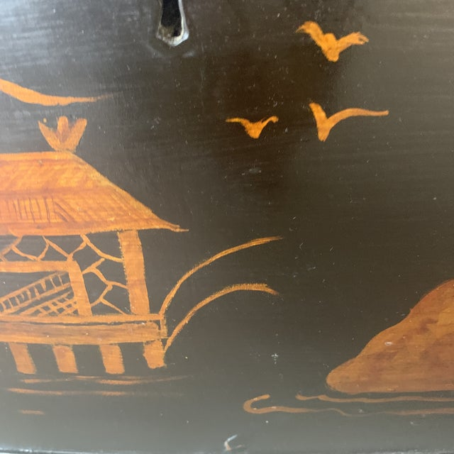 1800s Chinoiserie Bowfront Chest For Sale - Image 10 of 13