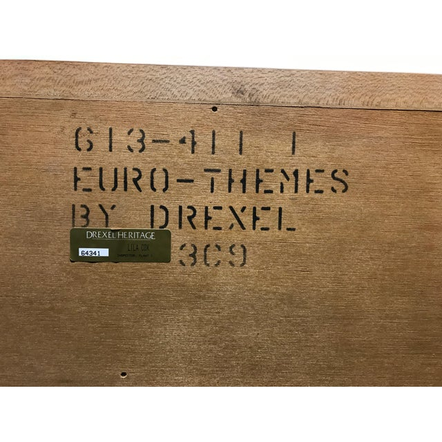Brass Drexel Heritage European Theme Welsh Pine Finish French Dressing Chest For Sale - Image 7 of 11