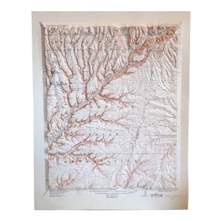 Vintage Soda Canyon Colorado Relief Map