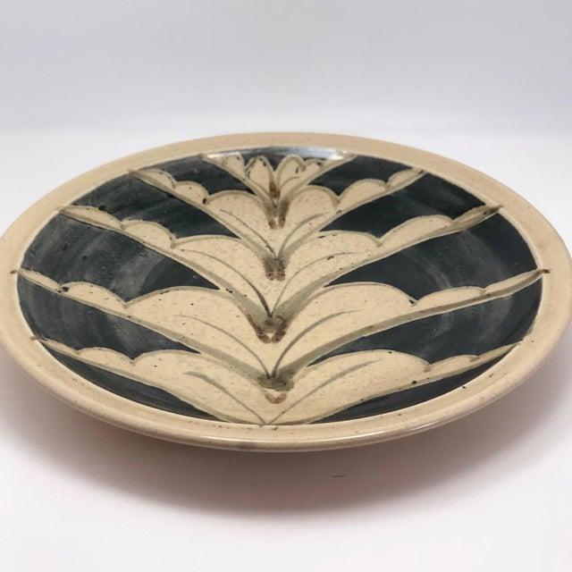 1970s Vintage Studio Pottery Platter For Sale - Image 4 of 13