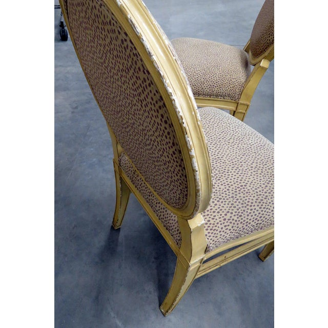 Set of 10 Louis XIV Style Dining Side Chairs For Sale - Image 12 of 13
