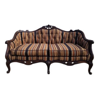 Vintage Southwestern / Boho Chic Tufted Loveseat For Sale
