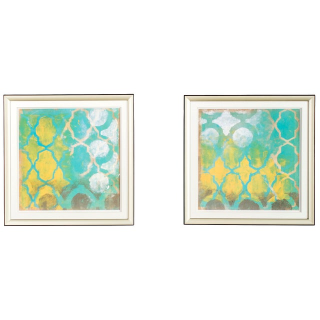 Diamond Wall Art Pieces - A Pair For Sale