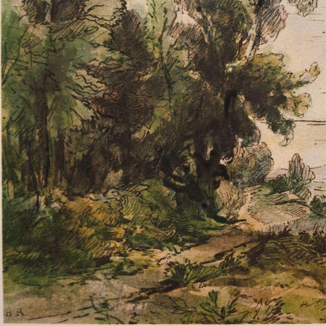 Anglo-Indian Theodore Rousseau, 1959 River Landscape Lithograph For Sale - Image 3 of 10