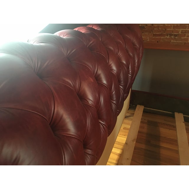 Grange King Leather Sleigh Bed - Image 6 of 8