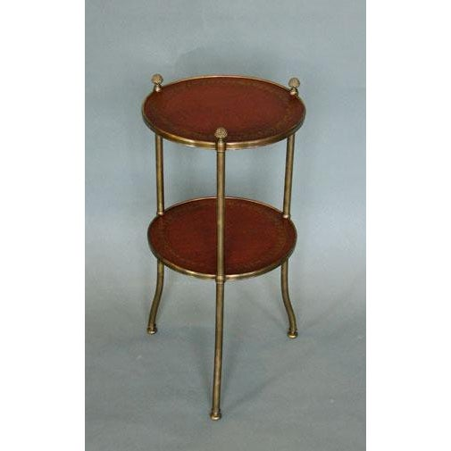 De Wolfe Muffin Table - Brass - Image 2 of 4
