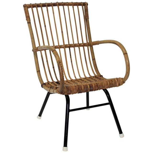 Mid-Century Modern Franco Albini Style Child's Chair Bamboo and Rattan For Sale - Image 13 of 13