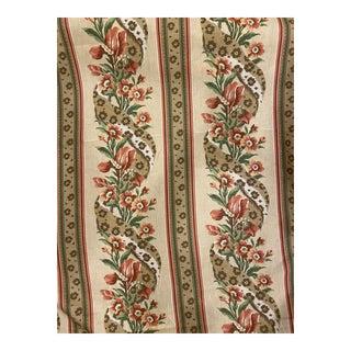 """Schumacher """"J'Adore"""" Screen Print Linen Fabric 13 Yards For Sale"""