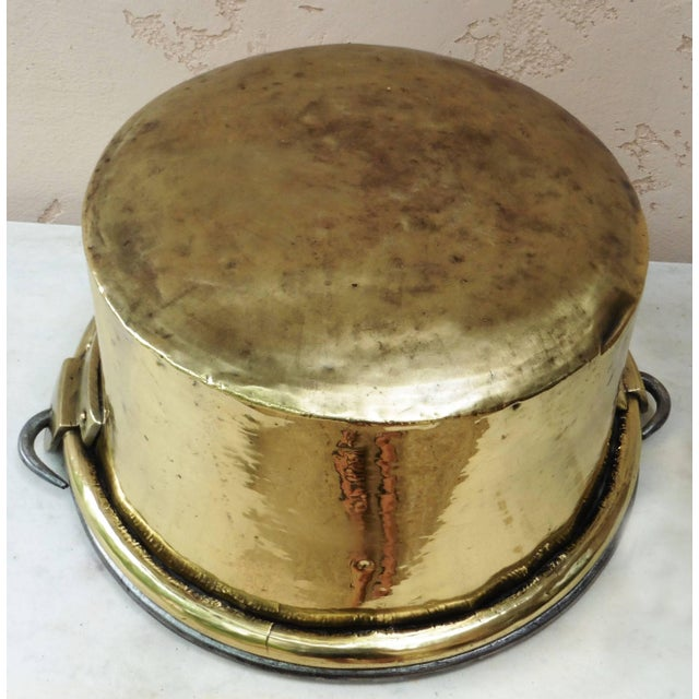 Early 19th Century French Yellow Copper Cauldron For Sale - Image 4 of 6