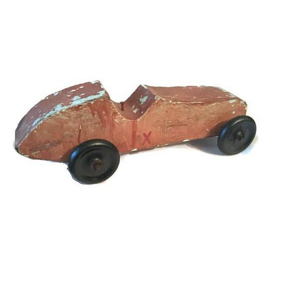Handmade Race Car Pull Toy - Image 5 of 8