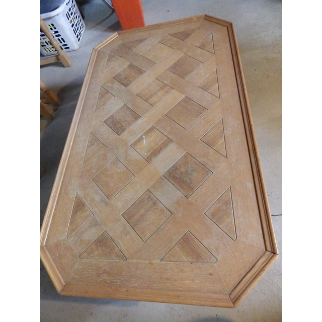 Burnt Umber Henredon Rustic Country Coffee Table For Sale - Image 8 of 11