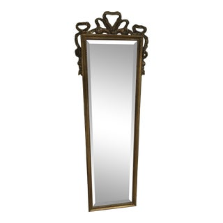 Vintage Full Length Mirror With Ruffle Bow For Sale