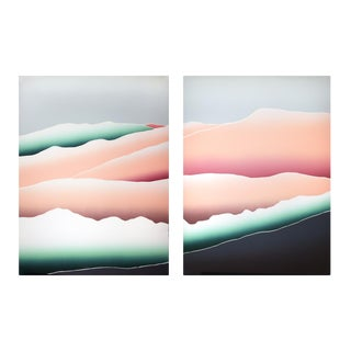 """Cathleen McNeill """"Canyon Light I & Ii"""" Serigraphs For Sale"""