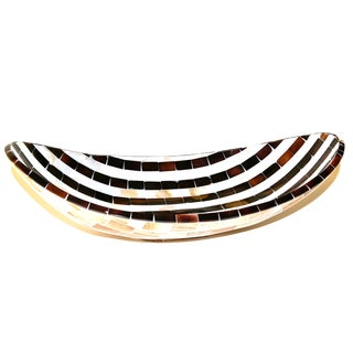 Mother of Pearl Stripe Design Bowl For Sale