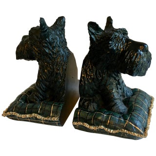 Pair of Scottie Dog Bookends For Sale
