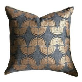 Gray & Copper Art Deco Pillow