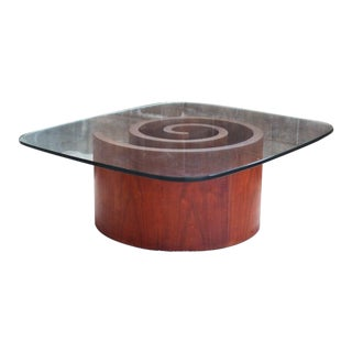 Mid Century Vladimir Kagan for Selig Snail Table Coffee Table For Sale