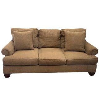 Henredon Fireside Brown Upholstered Sofa For Sale