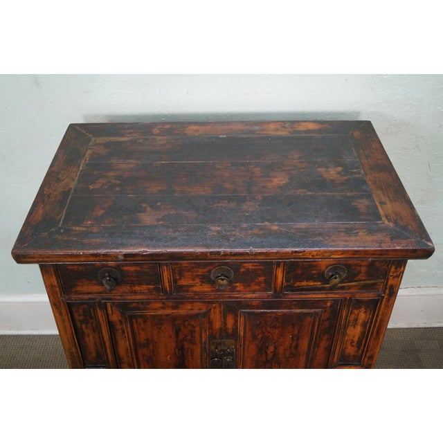 Rustic Chinese Console with Drawers - Image 8 of 10